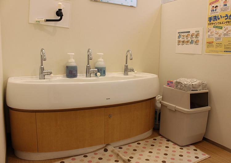 認可事業所内保育所こらいと島田 洗面所